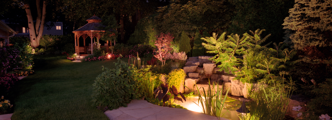 Outdoor lighting systems can provide